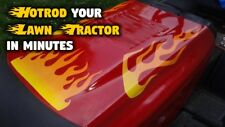 Flame decals for John Deere Lawn mower Lawn tractor - Hot Summer Fire - Citrus