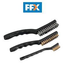 Sealey AK9801 Wire Brush Set Auto Engineer's 3pc