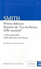 """SMITH PRIMO ABBOZZO DI PARTE DE """"LA RICCHEZZA DELLE NAZIONI"""" ETAS(TA940)"""
