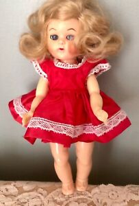 1950's Cosmopolitan Ginger Doll Tagged Red Taffeta Dress & Matching Panties