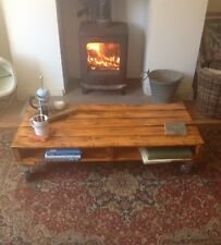 UpCycled Pallet Wood Coffee Table  Reclaimed Rustic Loft Chic.