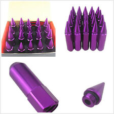 20 Pcs Purple Spiked Aluminium Alloy Car Wheel M12XP1.5 Extended Tuner Lug Nuts