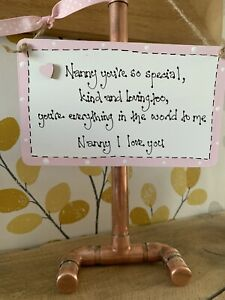 Nanny You're So Special Nanny I love You Wooden Plaque Sign gift Birthday