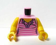 Lego 1 Body Torso For Girl Female Minifigure Figure Pink Halter Neck Vest Top
