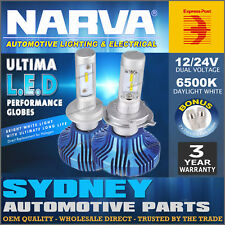 Narva H4 LED Headlight Performance Globes Ultima HIGH LOW Replace Xenon 18004