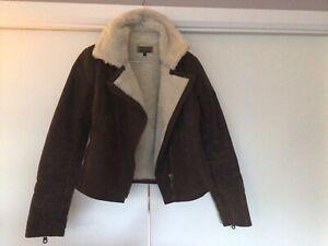 Sheepskin/suede Ladies Flying Jacket Size 8