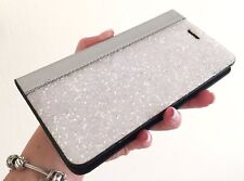 White Clear Rock Made with Swarovski Crystal Dazzle Wallet Case Cover iPhone 7/8