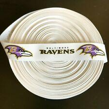 "7/8"" Baltimore Ravens Grosgrain Ribbon by the Yard (Usa Seller!)"