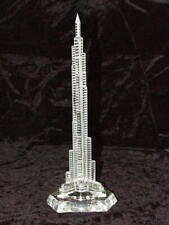 "DUBAI BURJ KHALIFA TOWER 21"" 520mm GLASS SOUVENIR WITH LIGHTING EFFECT FROM UAE"