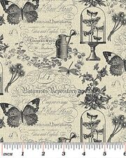 Benartex Rue36 by Bristol Bay Studio 4736 11 Grey Garden Memories Cotton Fabric