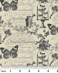 Benartex Rue36 by Bristol Bay Studio 4736 11 Grey Garden Memories Cotton Fabric