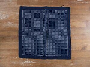 ERMENGILDO ZEGNA blue 100% wool pocket square authentic