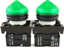 Moeller M22 Led G 12 30v Light Block Green 5 14ma M22ledg Lot Of 2