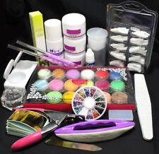 Pro Full Acrylic Liquid Powder Nail Art Tips Clipper Tools Kit Set