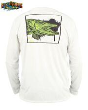 Simms Fishing Solar Tech Tee LS Shirt - XL - Muskie Face White - NEW DISCOUNTED