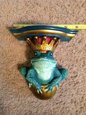 Frog Keeper Shelf By Shenandoah Designs NIB King Toad Crown Frog Prince