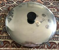 """Revere Ware Lid ONLY Stainless Steel 9 3/4"""" Replacement Lid for 10"""" Pan"""