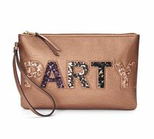 JUICY COUTURE Party Wristlet Purse Handbag Copper Sequin Graphics NWTs