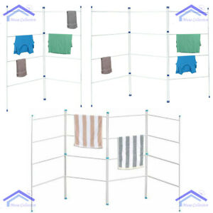 NEW AIRER 2 3 4 FOLD TIER CLOTHES HORSE DRIER INDOOR DRYING RACK FOLDING LAUNDRY