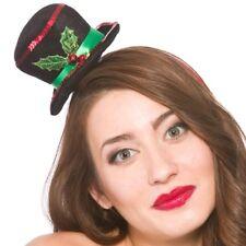 Mujer Disfraz de Navidad Mini Muñeco de Nieve Sombrero Diadema Nuevo H