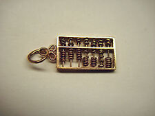 VINTAGE 24K GOLD YELLOW GOLD ABACUS PENDANT/CHARM - NEAT OLDER PIECE