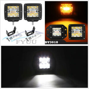 """2 Pcs 3"""" LED 96W Car Combo Flood Spot Working Light Driving Lamp 6000K"""