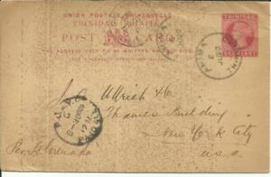 Trinidad postalcard HG:3 ARIMA JU/22/00 to USA, toning and edgewear