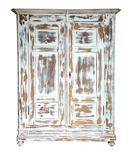 Weichholzschrank Kleiderschrank um 1900 - Landhausstil Shabby Chic - restauriert