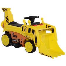Kinderfahrzeug Trettraktor Elektroauto Bulldozer Bagger MP3 3–8 Jahre PP Gelb