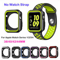 For Apple Watch Series 1234 iWatch 38/42/40/44mm Silicone TPU Bumper Case Cover