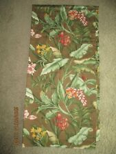 Linens & Textiles Vintage Waverly Lined Curtain Drape 1 Panel Brown New