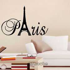 Lovely Paris France Eiffel Tower Love Wall Stickers Art Decal Decor Sticker CUB