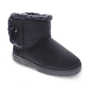 Orthaheel Orthotic Fluffy Slippers Womens - Dark Grey