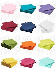 IKEA Fantastisk Paper Napkins 3 Ply Tissues Plain White Coloured Party 40x40 cm