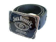 Jack Daniels Fibbia JD WHISKEY cintura e le fibbie Country Western bevande Nero