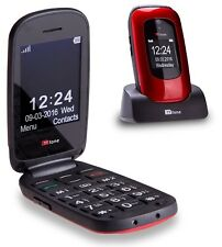 TTfone Lunar Big Button Flip Mobile Phone O2 with £10 Credit Pay as you go Red