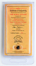 TITANIC 100TH ANNIVERSARY EDITION MINI COAL CERTIFICATE OF AUTHENTICITY