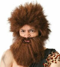 Homme des Cavernes Perruque Barbe Boxed Prehistoric Stone Age Fancy Dress