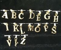 Miran 9K Solid Gold Initial Letters CZ Set.
