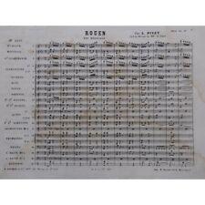 PIVET L. Rouen Pas redoublé Orchestre Fanfare militaire XIXe partition sheet mus