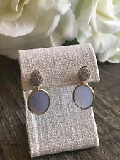 $3300 New Marco Bicego Siviglia 18k Chalcedony Diamond Drop Earrings
