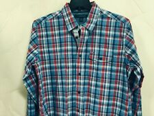 Tommy Hilfiger Mens Size M Western Cowboy Shirt Heritage Poplin Red Blue White