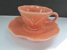 Metlox Poppytrail Vernonware LOTUS- Peach Apricot - Cup & Saucer Set