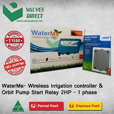 WaterMe- Wireless Irrigation controller + Orbit Pump Start Relay 2HP - 1 phase