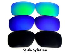 Galaxy Replacement Lens For Oakley Oil Drum Sunglasses Black/Blue/Green