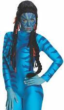 Neytiri Wig Avatar Na'vi Black Fancy Dress Up Halloween Adult Costume Accessory