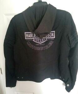 Harley-Davidson MEDIUM MISS ENTHUSIAST 3-in-1 Jacket w Hoodie Liner 98499-11VW