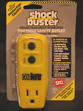 Shock Buster 15 Amp 3 Wire Grounding Single to Single Yellow GFCI Adapter New