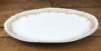 "Vintage Vienna Austria The Munich - Pink Rose Garland China Oval 12"" Platter"