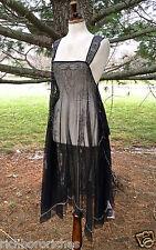 NWT Free People Embellished Beaded Mesh Maxi Slip Dress charcoal black S